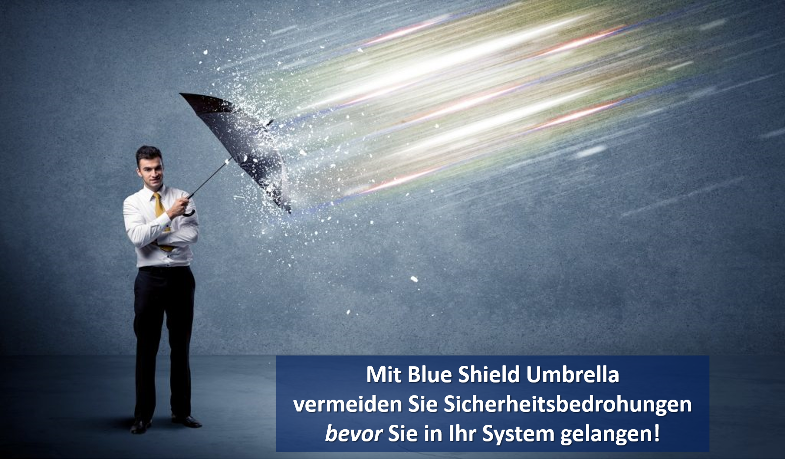 Blue Shield Umbrella