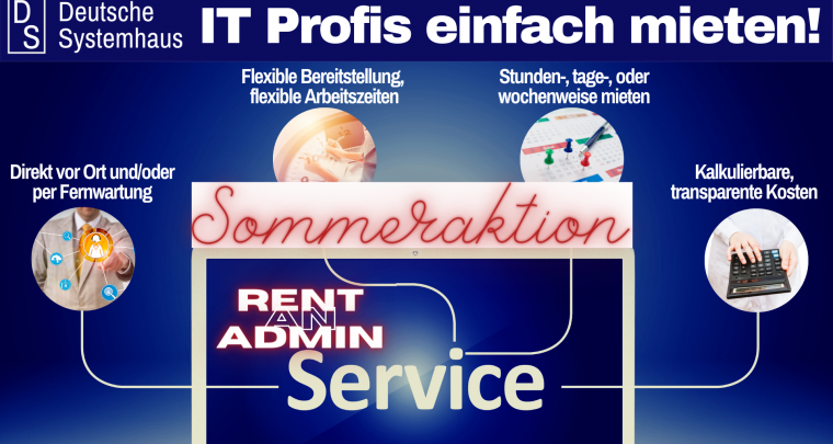 Rent an Admin Sommeraktion